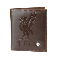 Liverpool FC Official Football Gift Luxury Brown Faux Leather Wallet