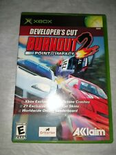 BURNOUT 2: POINT OF IMPACT - DEVELOPER'S CUT (for Xbox, 2003) Complete
