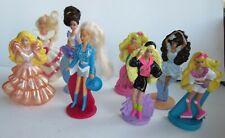 McDonalds Lot of 8 vintage Barbie figurines toys
