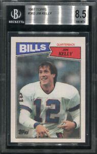 1987 TOPPS #362 JIM KELLY BGS 8.5 (8220) ROOKIE
