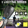 LED Tactical Flashlight Super Bright 250000LM CREE T6 Camping Torch Rechargeable