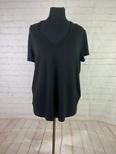 Talbots Women's black top size L $98 NEW WITH TAGS