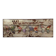 Large Butterfly Rectangle Wall Art – Sign – Antique – Vintage – Metal – Plaque
