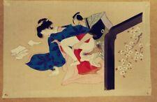 THREE JAPANESE EROTIC SHUNGA PAINTINGS