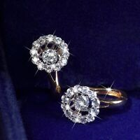 18k yellow gold gf made with SWAROVSKI crystal rocking stone huggie earrings