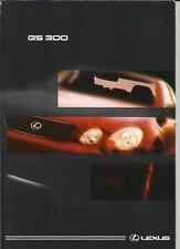 LEXUS GS 300 SALES BROCHURE OCTOBER 1997 FOR 1998