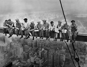 Lunch On a Skyscraper New York Workers Photo Wall Decor Poster Art Print 24x36