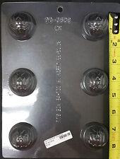 HALLOWEEN JACK O LANTERN TRUFFLE  PLASTIC CHOCOLATE CANDY MOLD CK 90-3608