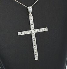 Wert 3950 € Brillant Anhänger Kreuz (1,55 carat) in 750er 18 K Weißgold