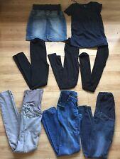 Bundle Skinny Jeans Denim Skirt Maternity Clothes Size 8 10 Top H&M Mama S Bump