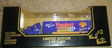 0959RACING CHAMPIONS 1993 PREMIER EDITION, HARDEES RACING TRANSPORTER 1/87 SCALE