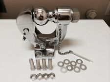 """CHROME PINTLE HOOK 2"""" BALL COMBO Tow Hitch"""