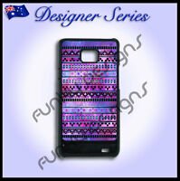 For Samsung S2 case hard cover Art Collection Purple Aztec Galaxy Tribal 4