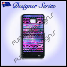 Designer Samsung S2 case hard cover Art Collection Purple Aztec Galaxy Tribal 4