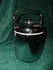 Zojirushi Chrome Plastic Ice Bucket with tongs in lid. Complete with Drainer.