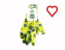Non Slip Ladies Latex Gardening Gloves - Green Medium