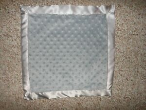 Personalized Grey Minky/Satin Baby Blanket