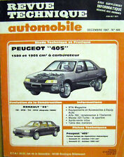 Revue technique Peugeot 405 1580 et 1905 cm3 à carburateur /H13