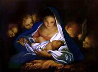 "stunning oil painting handpainted on canvas""Nativity"""