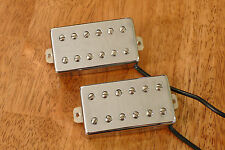 HUMBUCKER PICKUP SET DOUBLE COIL CHROME FOUR CONDUCTOR WIRES ALNICO 5 MAGNETS