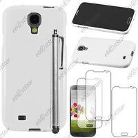 Housse Etui Coque Silicone Blanc Samsung Galaxy S4 i9500 + Stylet + 3 Film écran