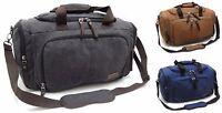 "24"" 60cm Quality Tough Canvas Holdall Duffle Bag - Travel Gym Storage Bag"