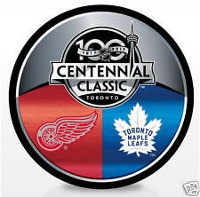 2017 Centennial Classic Dueling Hockey Puck Toronto Maple Leafs Detrot Red Wings