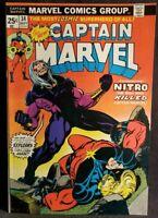 1974 CAPTAIN MARVEL 34 vf NM 1st NITRO App Comic VIBRANT Starlin 70s Bronze Key