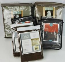 Matched Set Window Treatments Drapes Sham & Euro Sham Mint Green Brown Kohl's