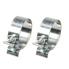 """2PCS 2.5""""  Stainless Steel Band Exhaust Clamp Buckle type-powerful T409"""