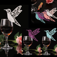 Bird Paper Name Place Card For Wedding Party Table Wine Glass Cake Decoration 5H