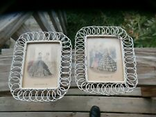 Vintage Godeys Americanized Paris Fashions Pictures 1853 & 1852 Very Old Rustic