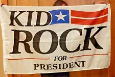 Kid Rock for US President Senate 20 flag rock&roll banner man cave 3x5ft RV Boat