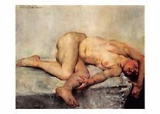 Postcard Art Reclining Female Nude (1907) by Lovis Corinth MU2497 #2762 Risque