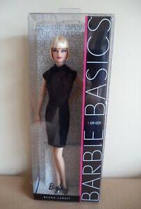 Barbie Basics doll # 09-001 NRFB 2009 black label Model Muse Mattel new in box