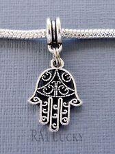 HAMSA Hand Palm Charm Bead Pendant. Fits European charm Bracelet C228