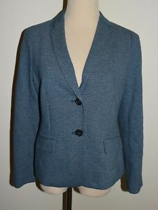 New Talbots 8P Blazer Button Front Cotton Blend Lined Jacket 8 Petite