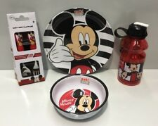 DISNEY MICKEY MOUSE KIDS MELAMINE DINNER PLATE / BOWL / CUTLERY / DRINK BOTTLE