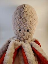 "Dan Dee Grey Octopus Squid Plush 28"" Collectors Choice"