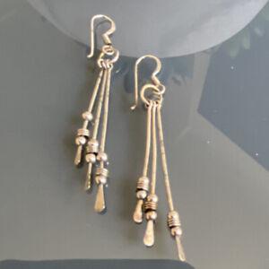 Silver Drop Earrings 925 Sterling
