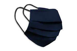 Waschbare Behelfsmaske Gesichts Nasen Mund Maske Baumwolle Bedeckung dunkelblau