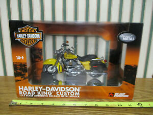 Harley-Davidson Yellow Road King Custom Motorcycle By DCP 1/12th Scale