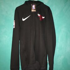 Nike X NBA Chicago Bulls Showtime ThermaFlex Courtside Hoodie 932510 010 $140 S
