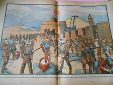 Kintchéou les Japonais occupent la Muraille de Chine dessin Print 1932