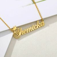 Personalized Crown Name Set of Necklace Bracelet Anklet Custom Made Jewelry