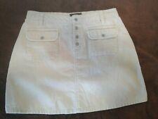 Route 66 Women's Beige Corduroy Snap Button Front A Line Skirt Size 6