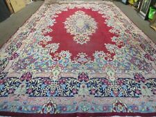 New listing 10' X 17' Vintage Turkish Wool Rug Hand Knotted Red Nice