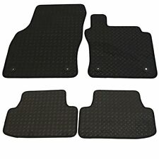 Ford C Max 2003-2010 Tailored Rubber Car Mat Set Black With Black Trim