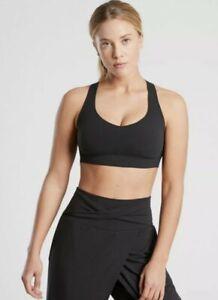 Athleta Pirouette Bra A-C - Black NWT Medium #657803