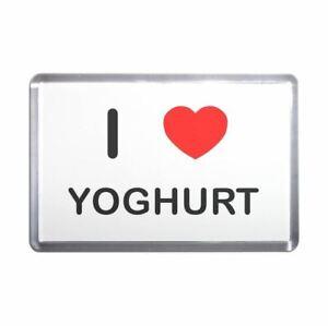 I Love Yoghurt Plastic Fridge Magnet - Decoration Fun BadgeBeast